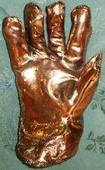 Handschoen vergulden