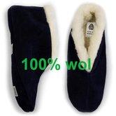 Spaanse slof 100%wol navy